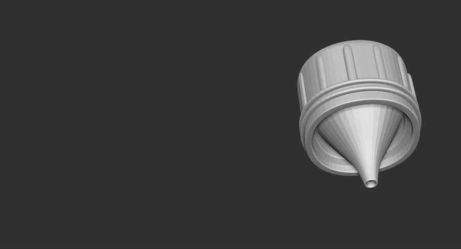 1QT Military Canteen Zbrush Sculpt royalty-free 3d model - Preview no. 20
