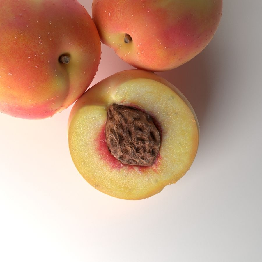 Peach Photorealistic royalty-free 3d model - Preview no. 11