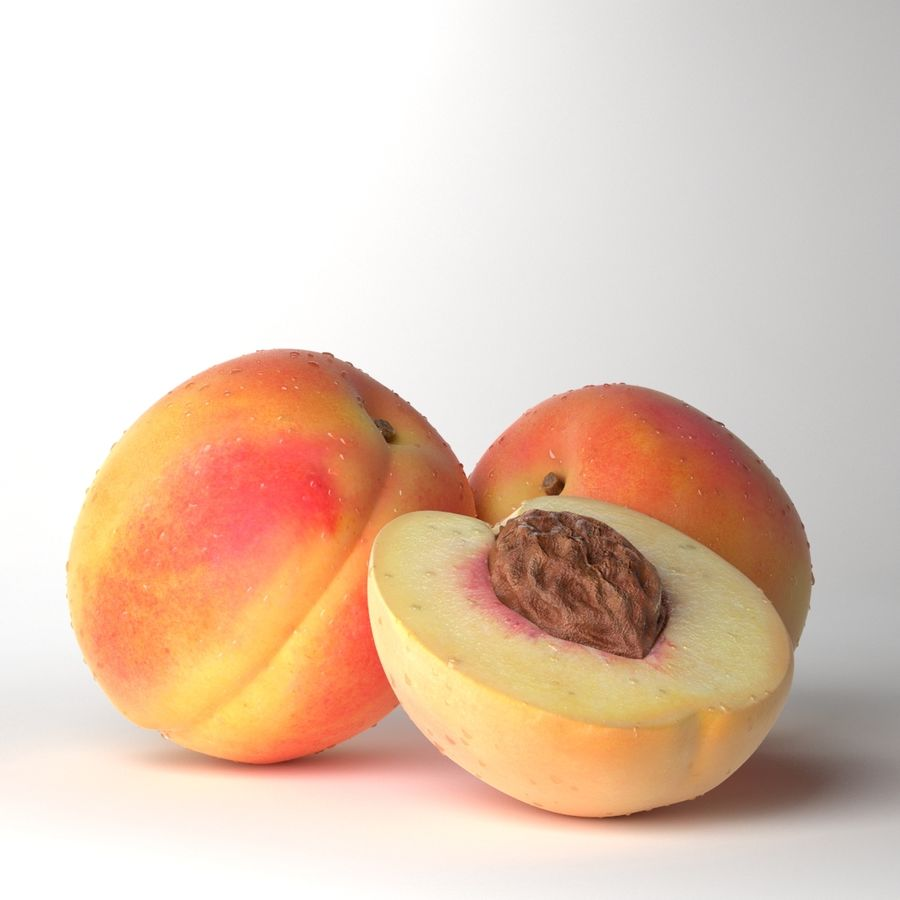 Peach Photorealistic royalty-free 3d model - Preview no. 1