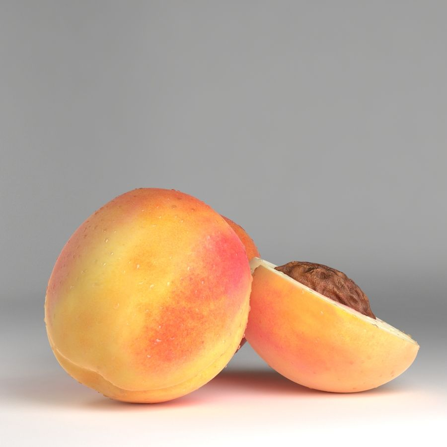 Peach Photorealistic royalty-free 3d model - Preview no. 6