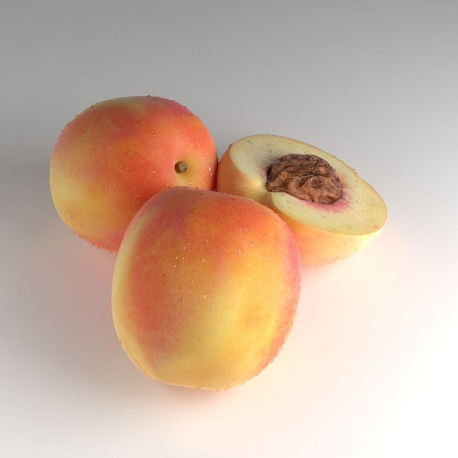 Peach Photorealistic royalty-free 3d model - Preview no. 8