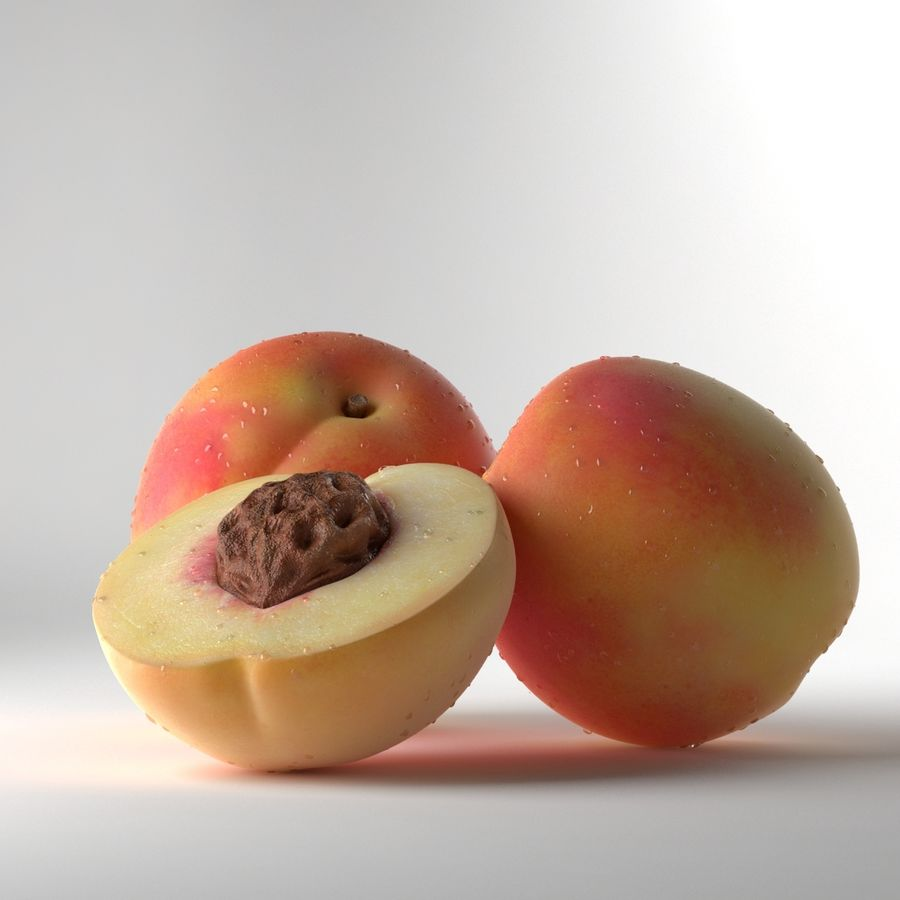 Peach Photorealistic royalty-free 3d model - Preview no. 5