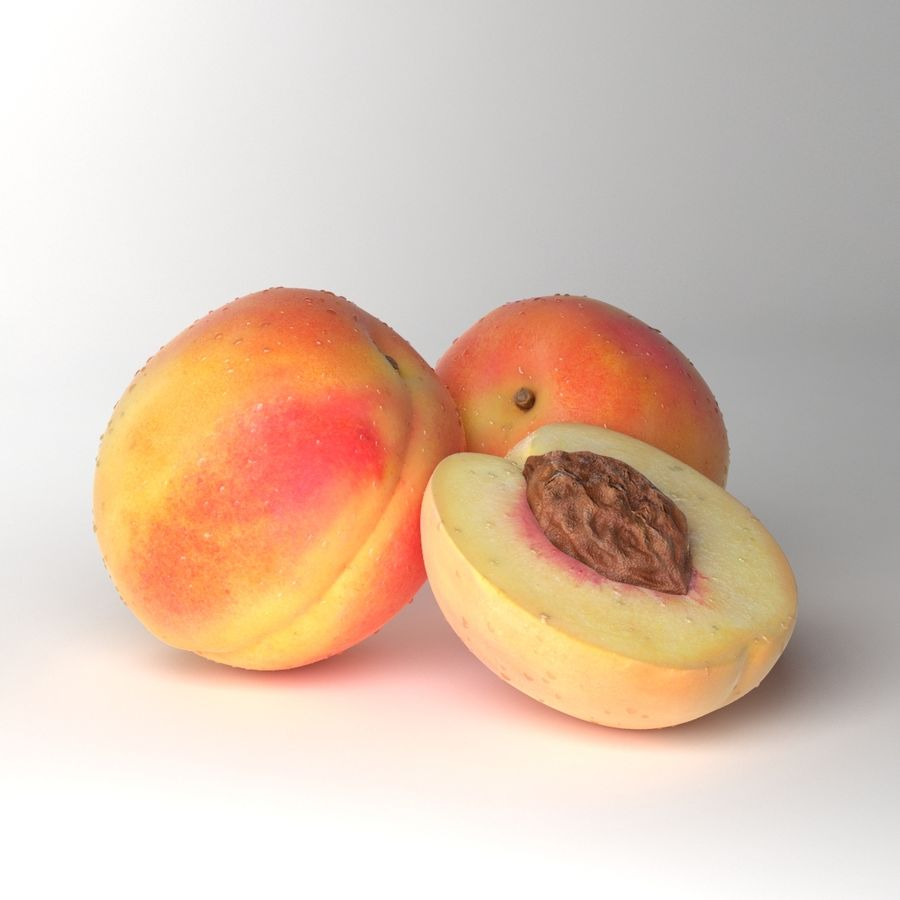 Peach Photorealistic royalty-free 3d model - Preview no. 4