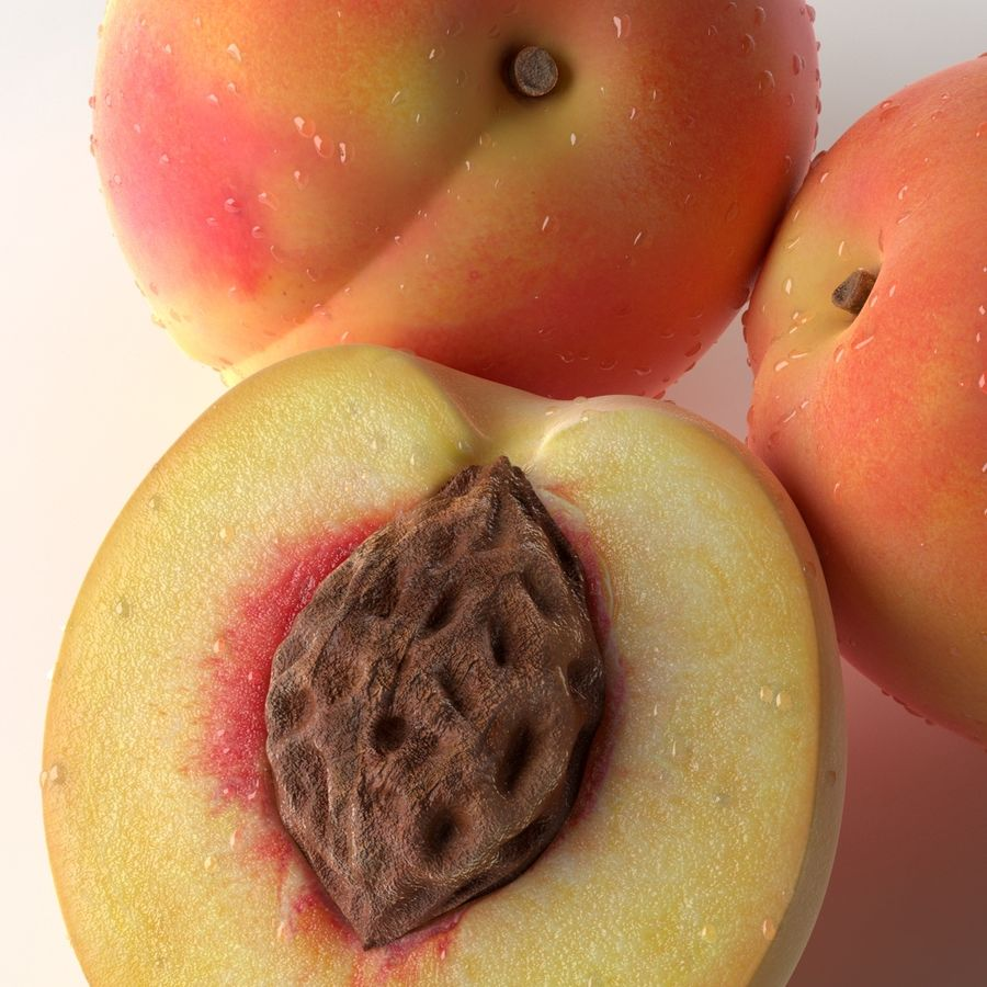 Peach Photorealistic royalty-free 3d model - Preview no. 9
