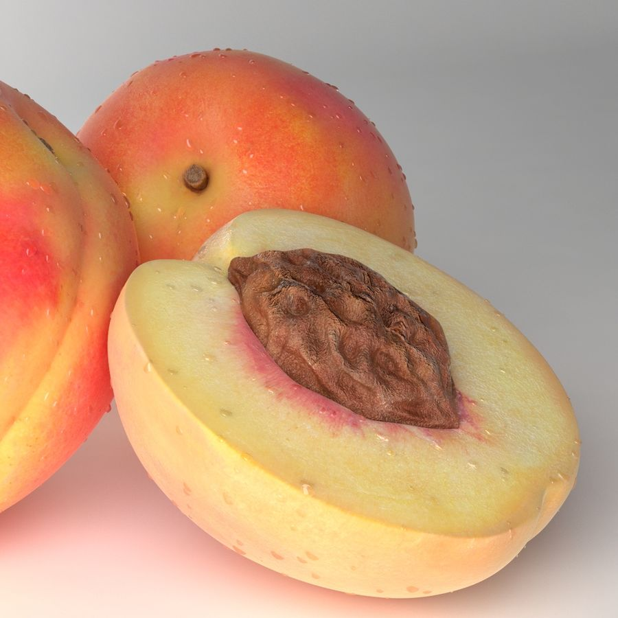Peach Photorealistic royalty-free 3d model - Preview no. 10