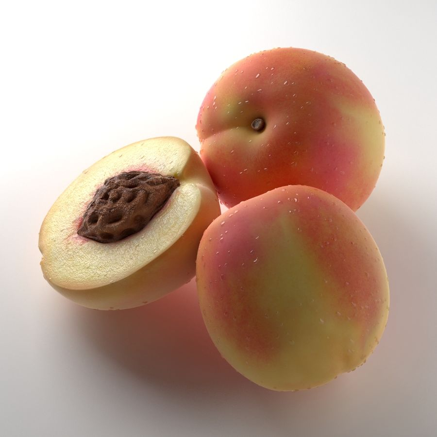 Peach Photorealistic royalty-free 3d model - Preview no. 7