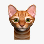 Kitten Head (No Hair) 3d model