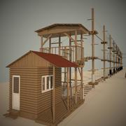 parque de corda 3d model