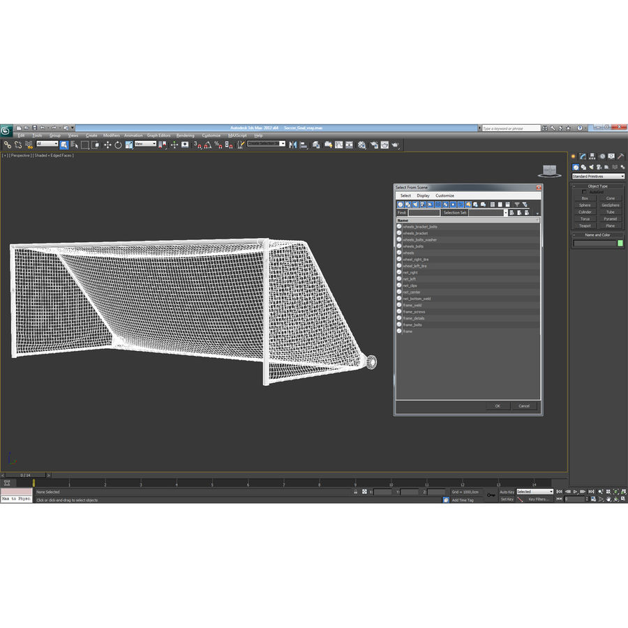 Soccer Goal royalty-free 3d model - Preview no. 21