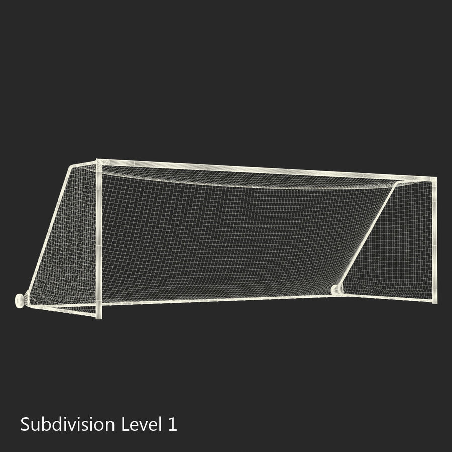 Soccer Goal royalty-free 3d model - Preview no. 17