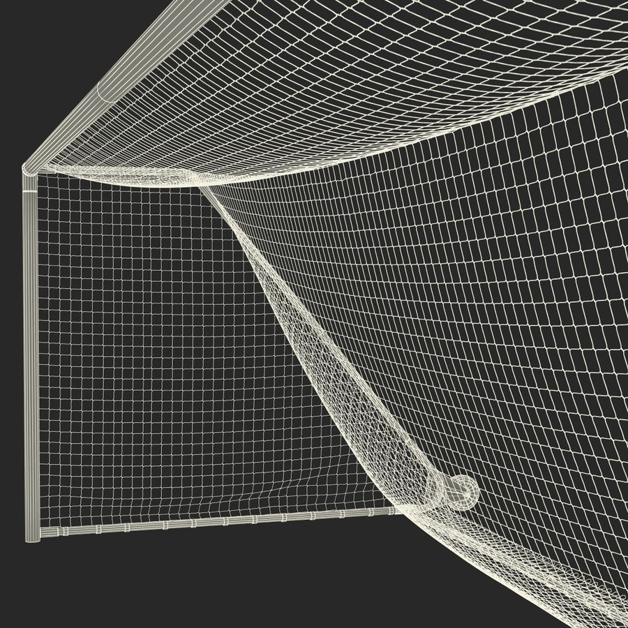 Soccer Goal royalty-free 3d model - Preview no. 33