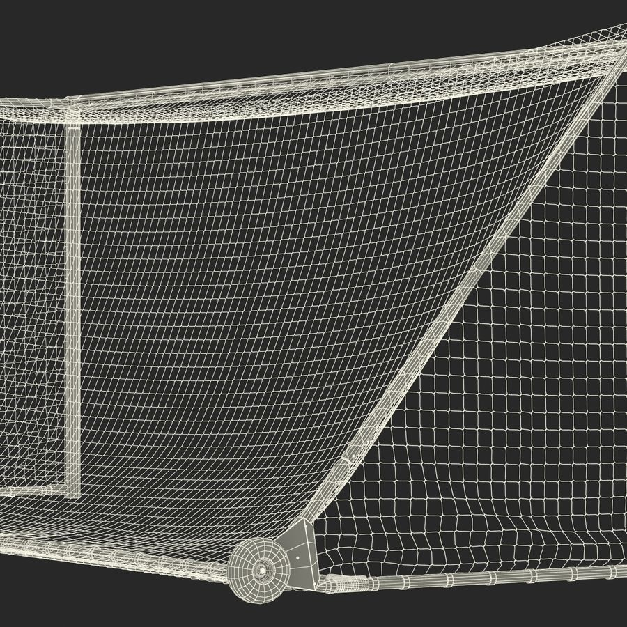 Soccer Goal royalty-free 3d model - Preview no. 30