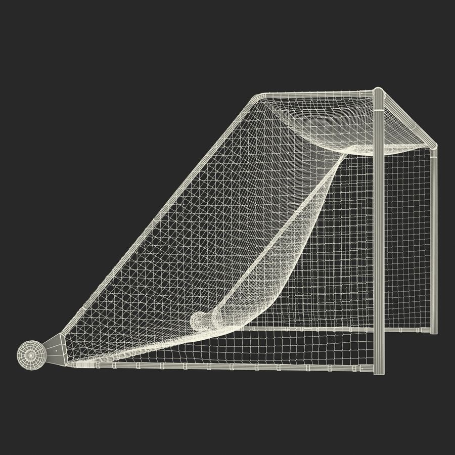 Soccer Goal royalty-free 3d model - Preview no. 29
