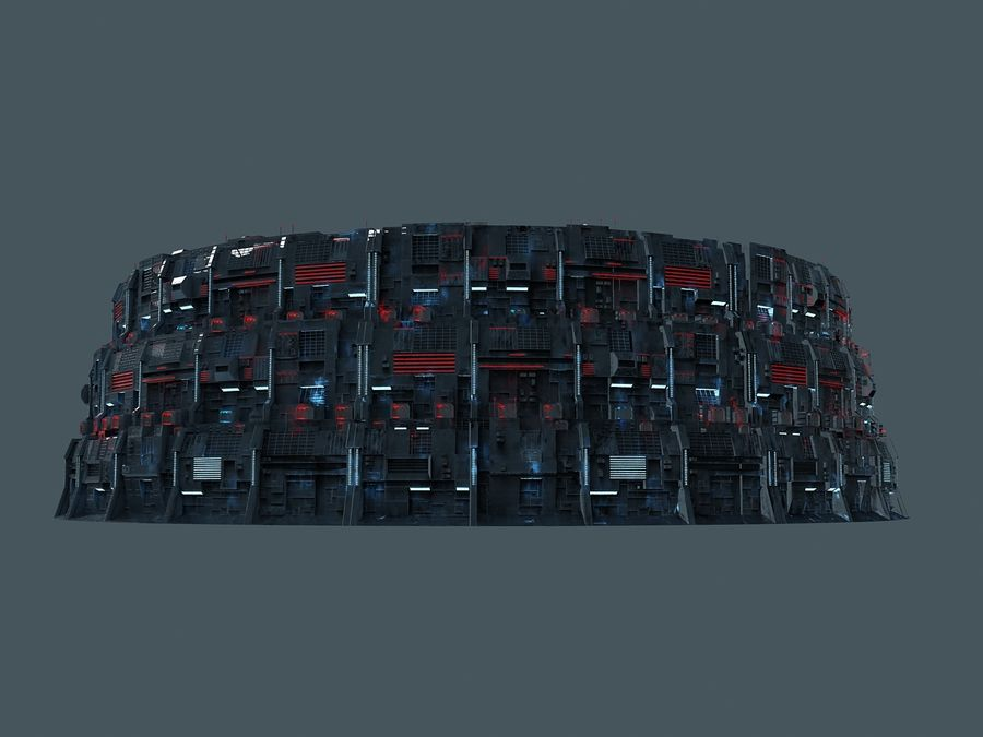 Citadel Sci Fi royalty-free 3d model - Preview no. 6