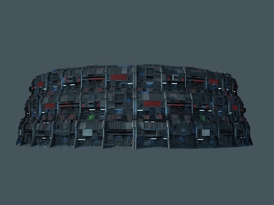 Citadel Sci Fi royalty-free 3d model - Preview no. 3