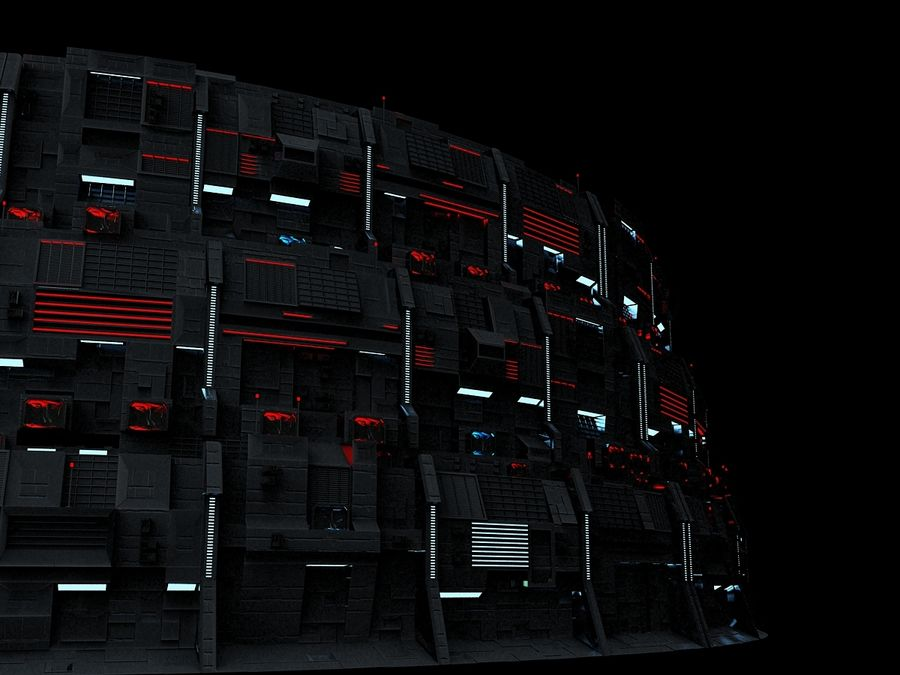 Citadel Sci Fi royalty-free 3d model - Preview no. 4