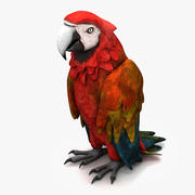 Papağan 2 3d model