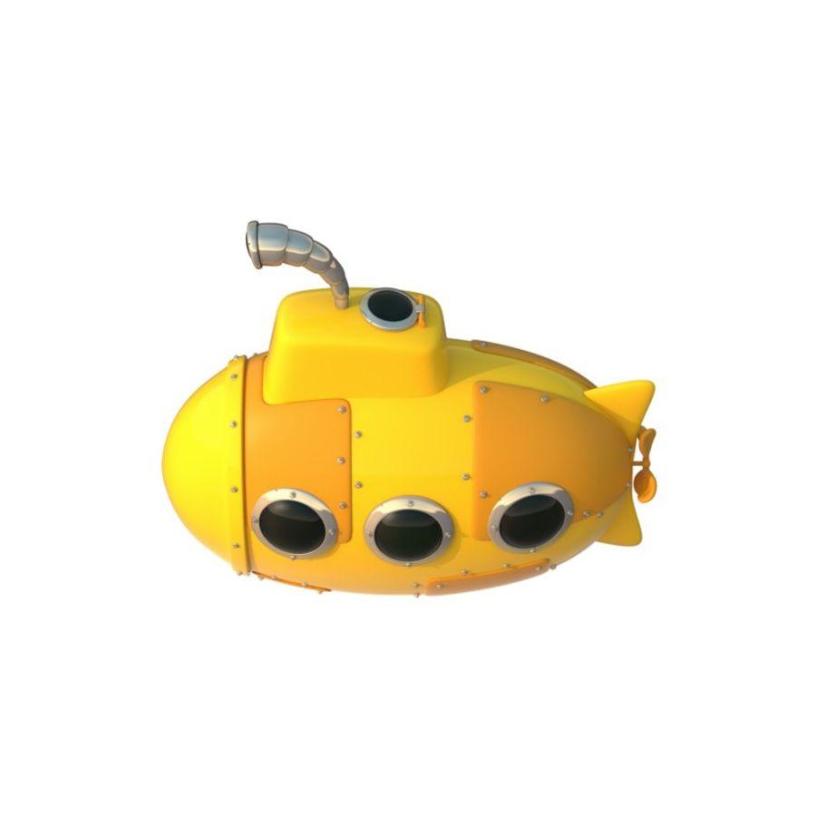 Sottomarino giallo cartone animato modello 3d $29 .unknown .obj