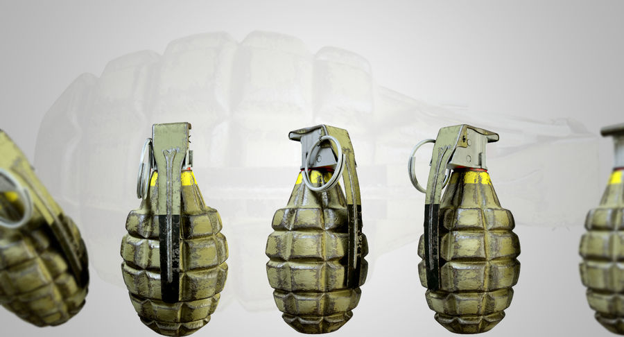 Grenade royalty-free 3d model - Preview no. 12