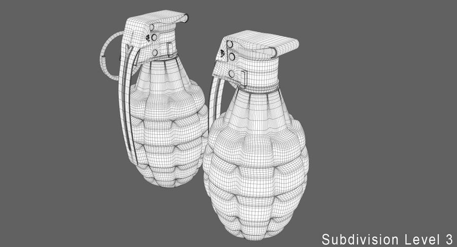 Grenade royalty-free 3d model - Preview no. 16