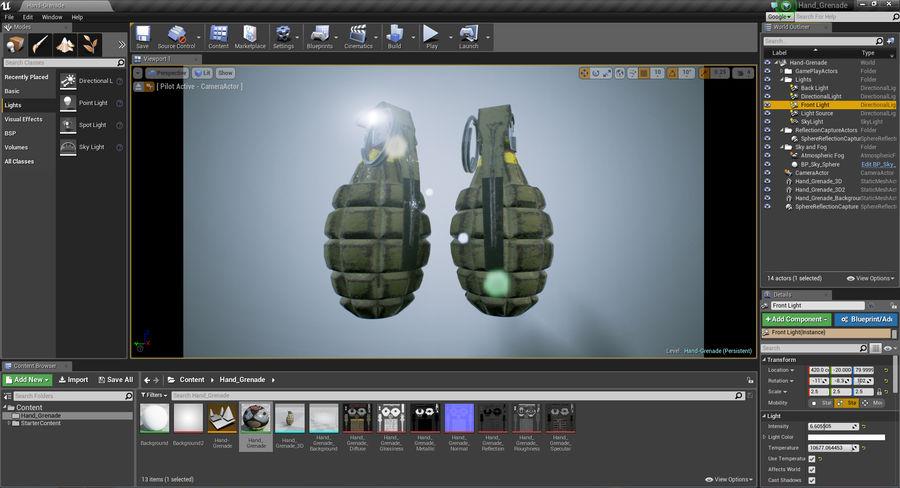 Grenade royalty-free 3d model - Preview no. 18