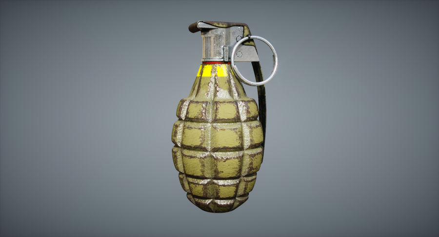 Grenade royalty-free 3d model - Preview no. 11