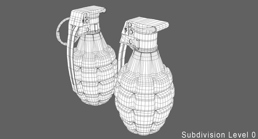 Grenade royalty-free 3d model - Preview no. 15