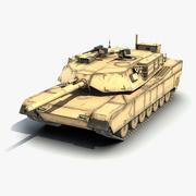 M1A1 Abrams LOD 3d model