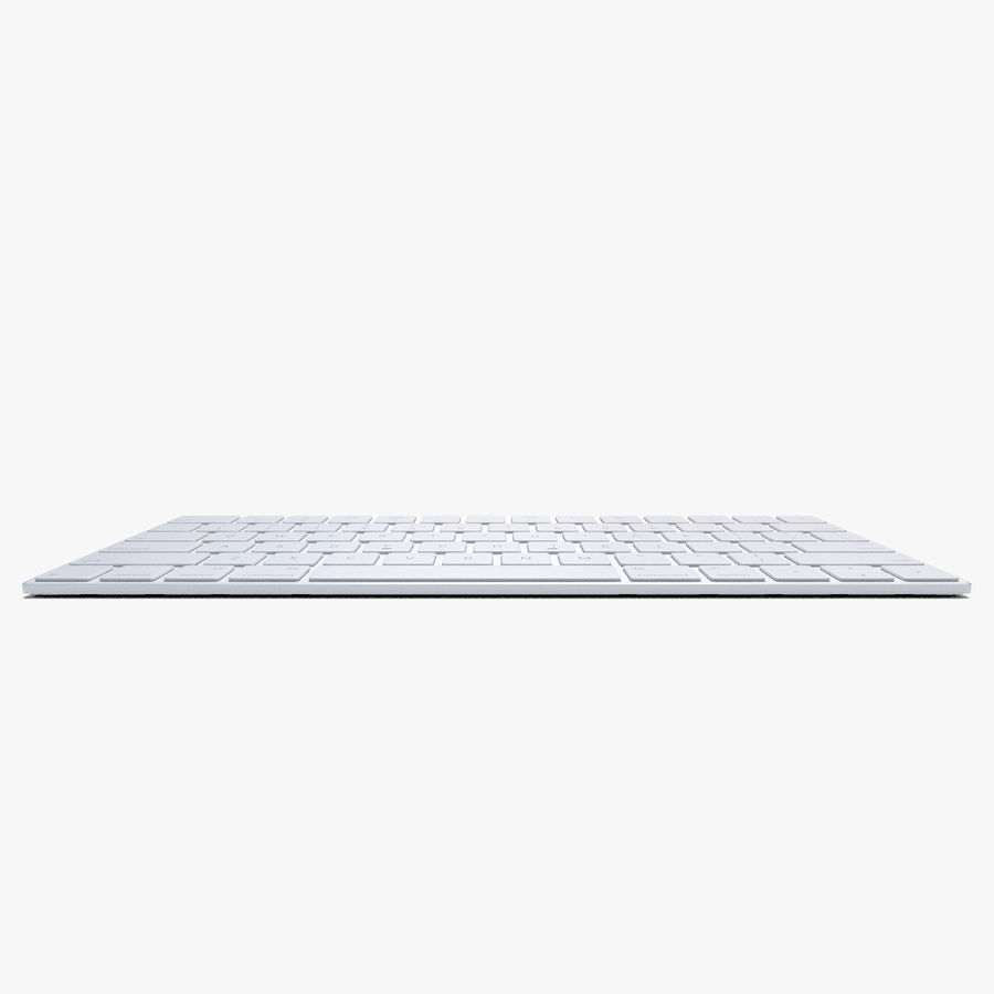2015 Wireless Apple Keyboard royalty-free 3d model - Preview no. 4