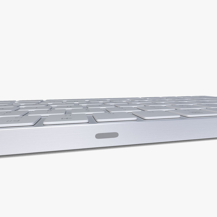 2015 Wireless Apple Keyboard royalty-free 3d model - Preview no. 7