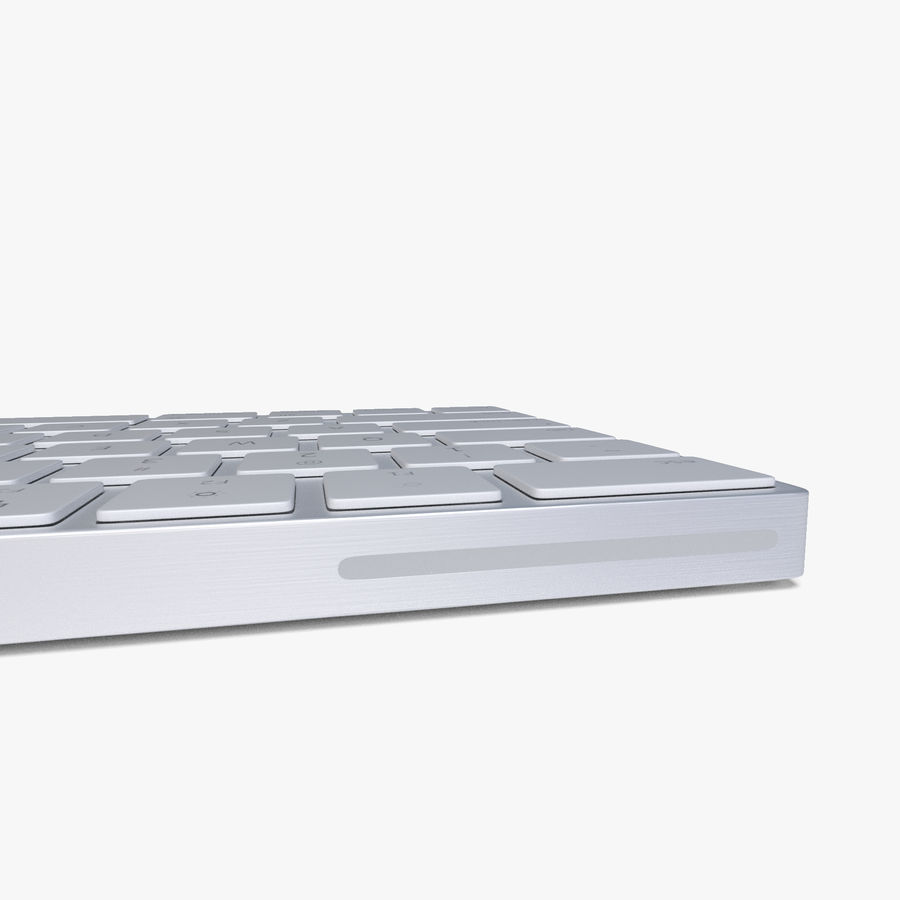2015 Wireless Apple Keyboard royalty-free 3d model - Preview no. 8