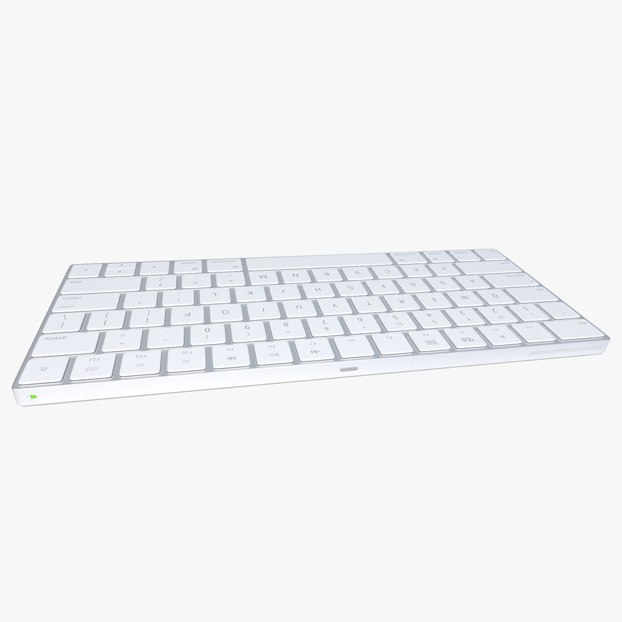 2015 Wireless Apple Keyboard royalty-free 3d model - Preview no. 3
