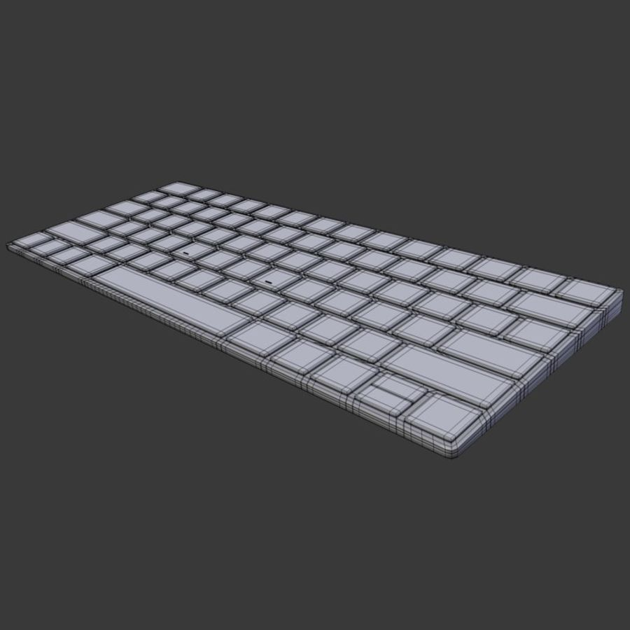 2015 Wireless Apple Keyboard royalty-free 3d model - Preview no. 9