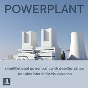 Powerplant Coal 3d model