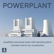 Węgiel do elektrowni 3d model