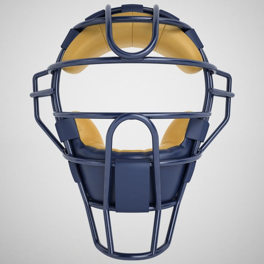 Catchers Face Mask 05 royalty-free 3d model - Preview no. 5