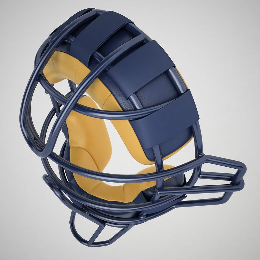 Catchers Face Mask 05 royalty-free 3d model - Preview no. 9