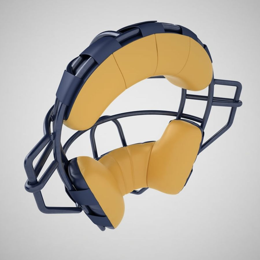 Catchers Face Mask 05 royalty-free 3d model - Preview no. 11