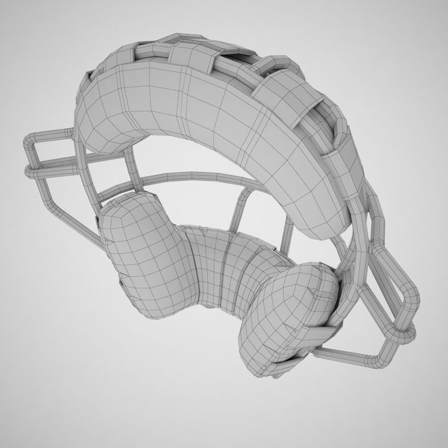Catchers Face Mask 05 royalty-free 3d model - Preview no. 14