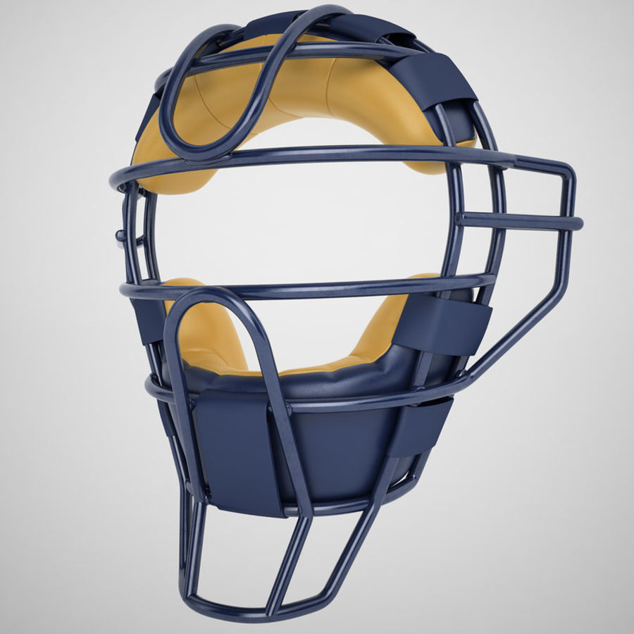 Catchers Face Mask 05 royalty-free 3d model - Preview no. 2