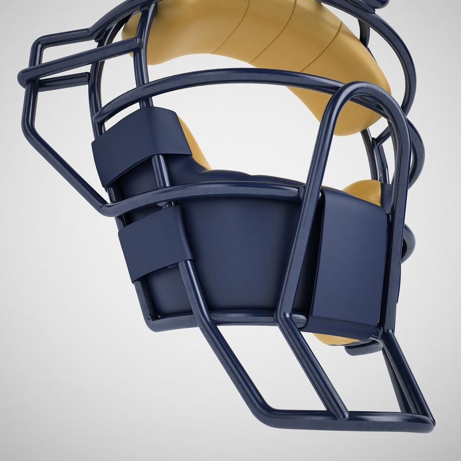 Catchers Face Mask 05 royalty-free 3d model - Preview no. 17