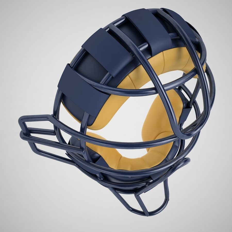 Catchers Face Mask 05 royalty-free 3d model - Preview no. 7