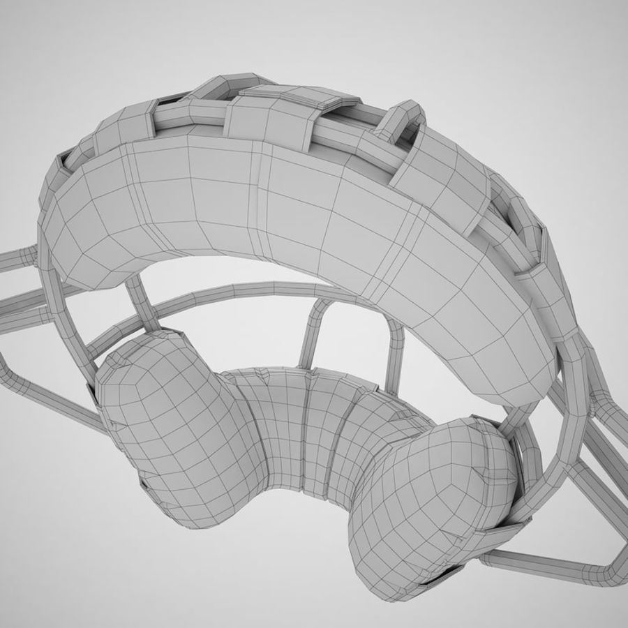 Catchers Face Mask 05 royalty-free 3d model - Preview no. 26