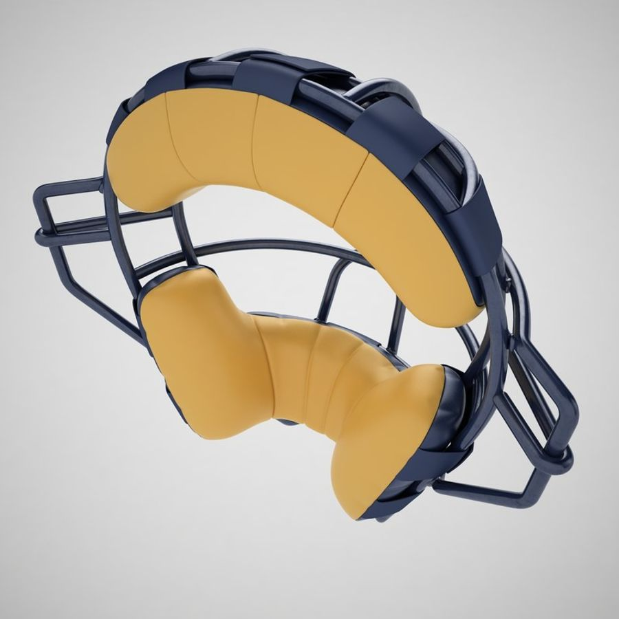 Catchers Face Mask 05 royalty-free 3d model - Preview no. 13