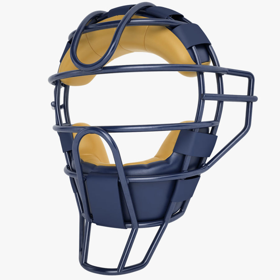 Catchers Face Mask 05 royalty-free 3d model - Preview no. 1