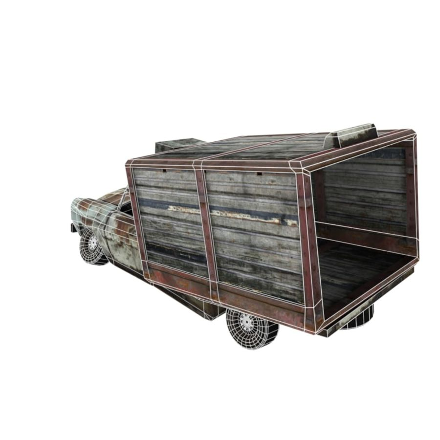 Destroyed Truck royalty-free 3d model - Preview no. 6