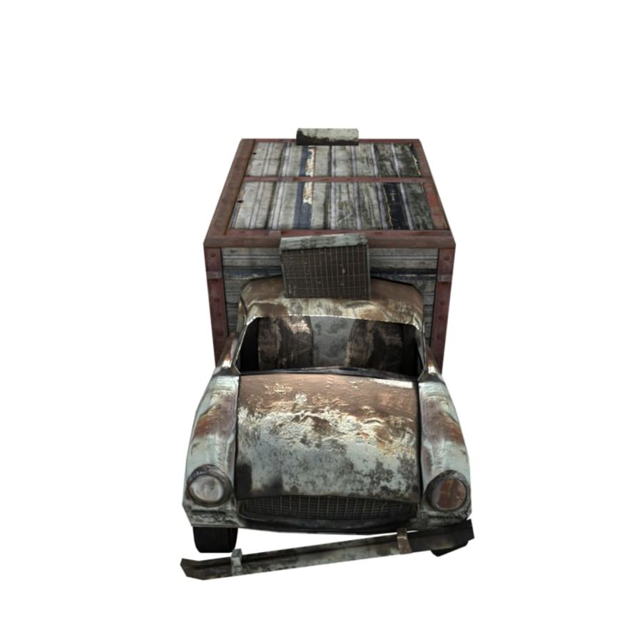 Destroyed Truck royalty-free 3d model - Preview no. 2