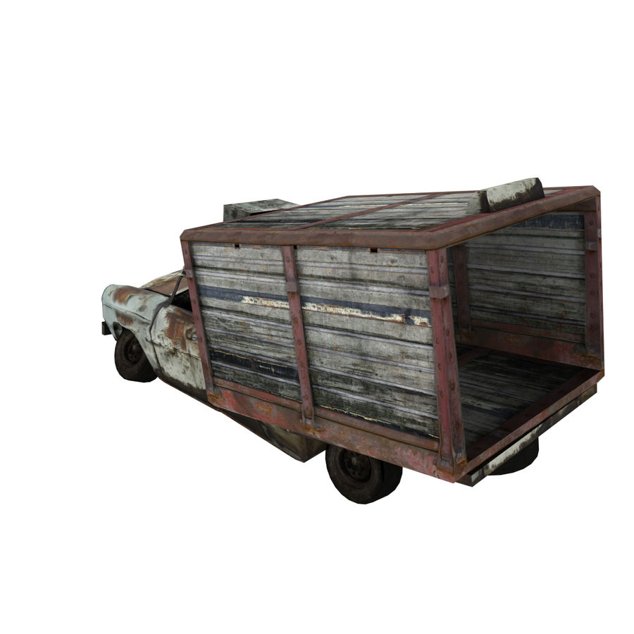 Destroyed Truck royalty-free 3d model - Preview no. 3