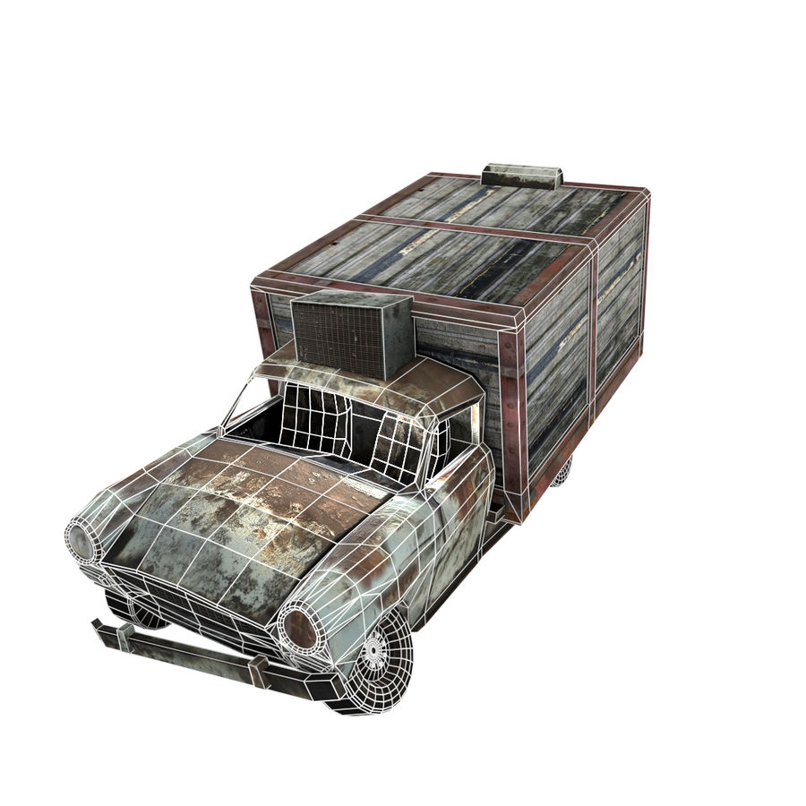 Destroyed Truck royalty-free 3d model - Preview no. 5