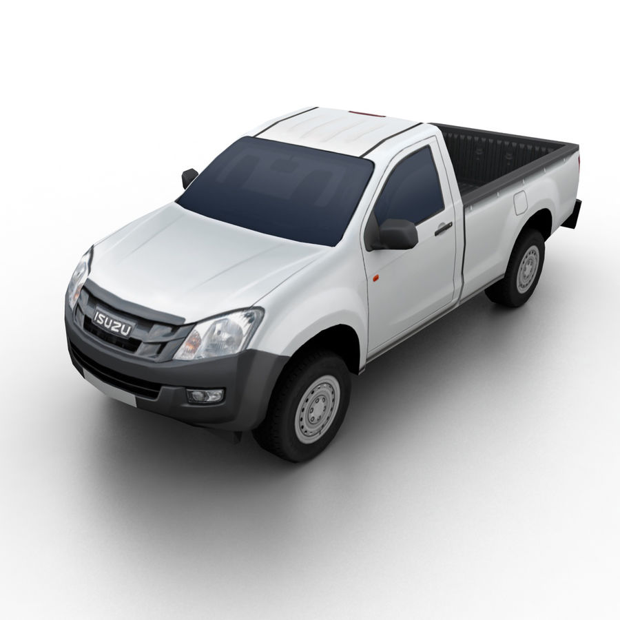 Isuzu D-Max 2013 royalty-free 3d model - Preview no. 1